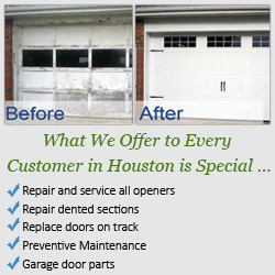 Garage door repair repair broken springs houston texas for Garage door repair houston tx